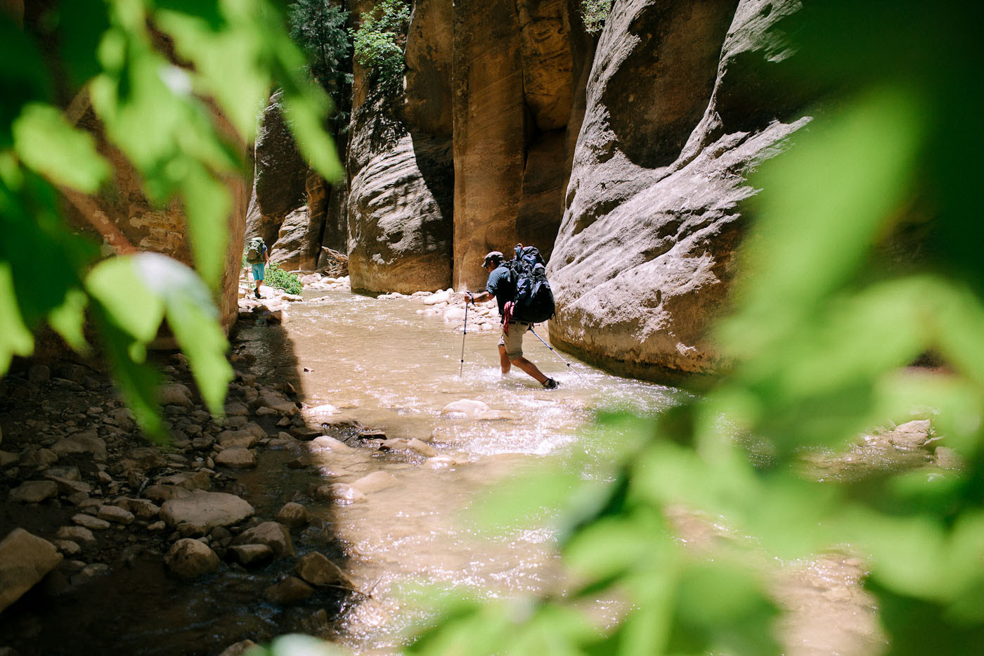 John Thiltgen hiking in the Narrows, Zion National Park, Utah