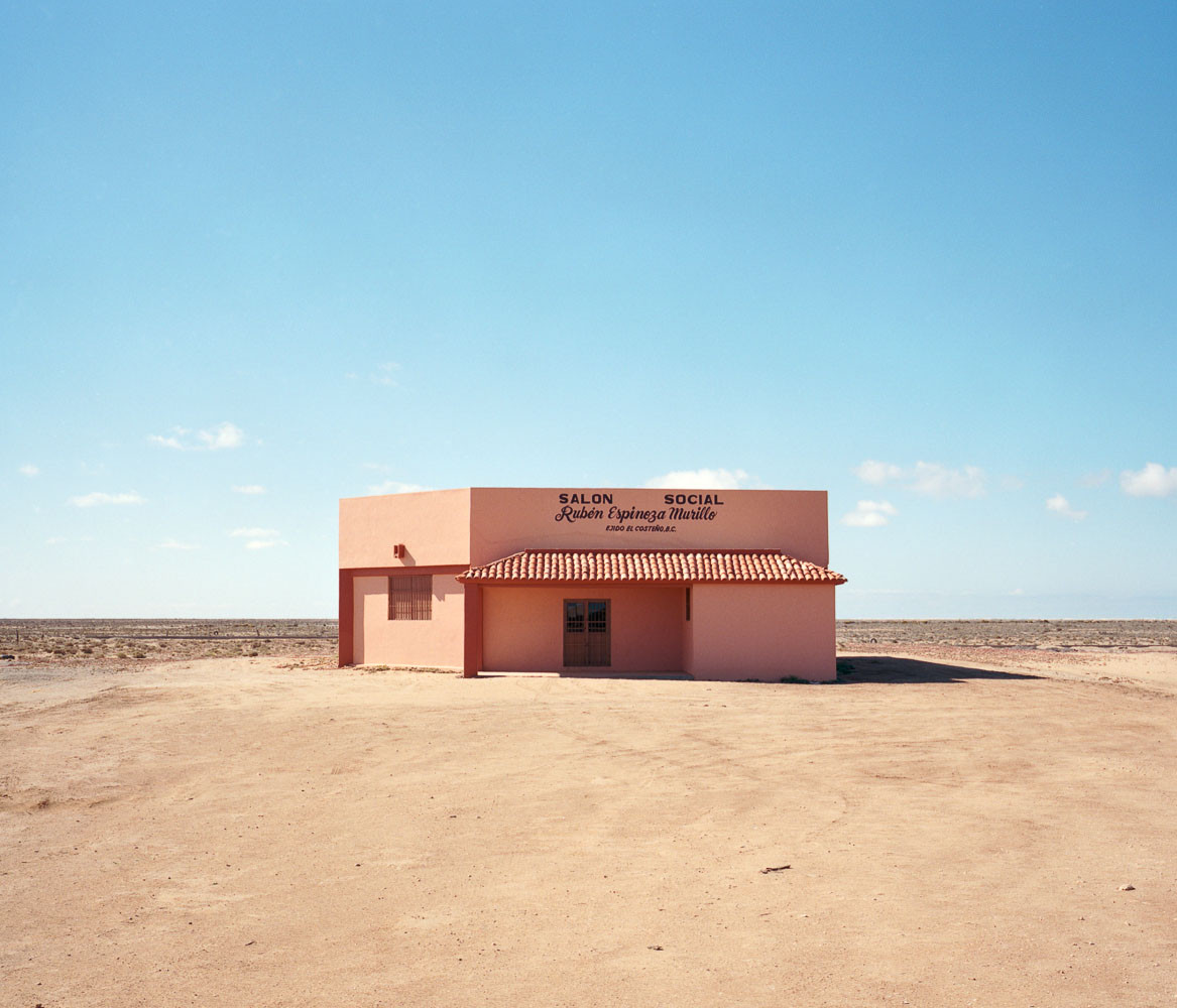 Empty social center in Baja, Mexico