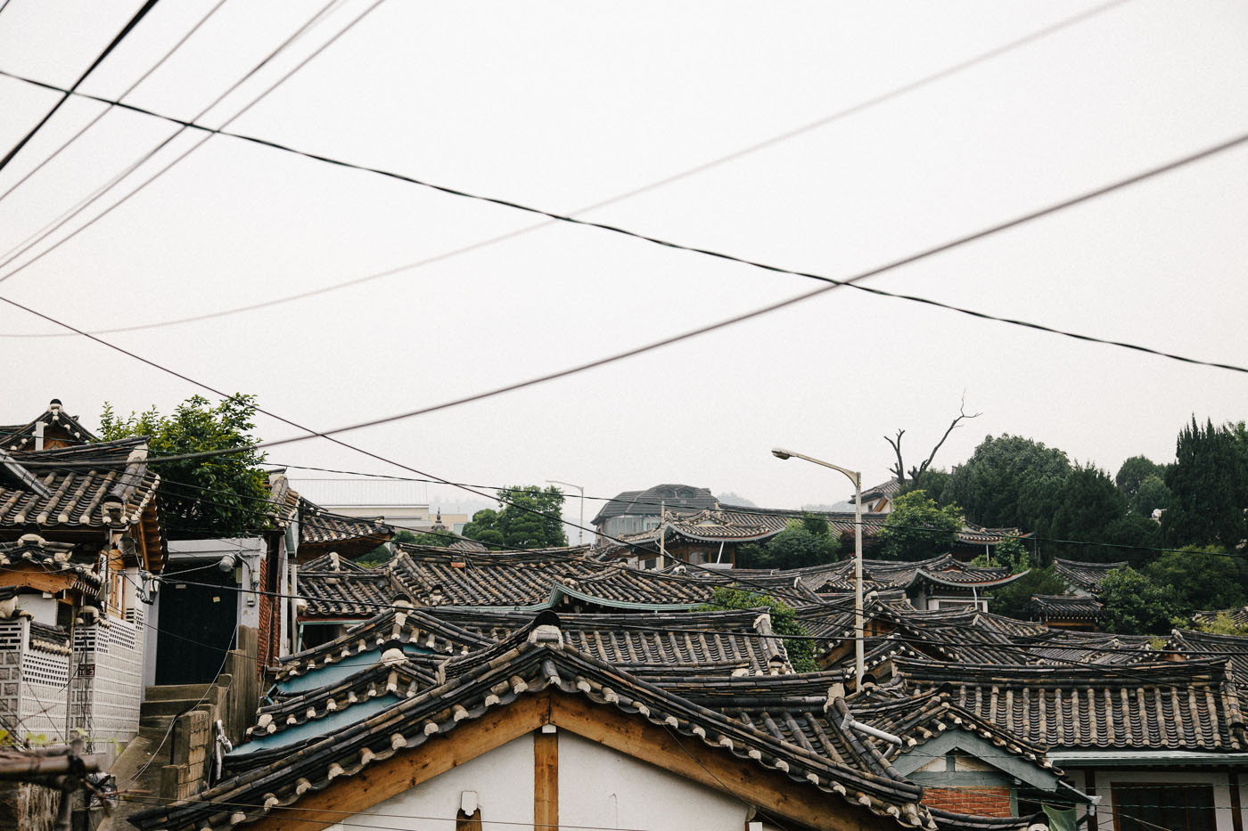 Rooftops in Bukchon, Seoul, South Korea